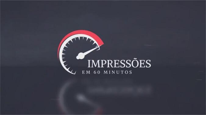 Impressões em 60 minutos